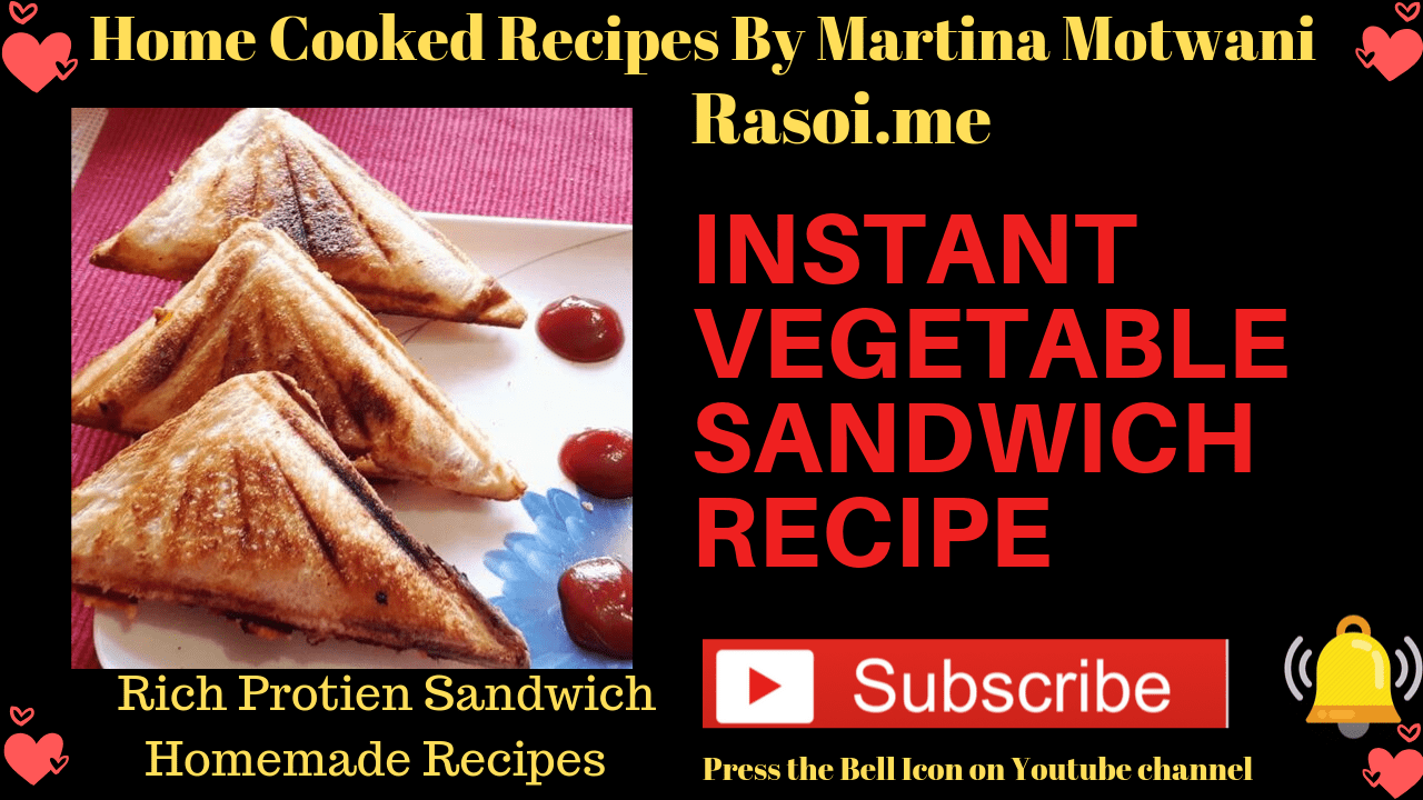 Vegetable Snadwich Recipe