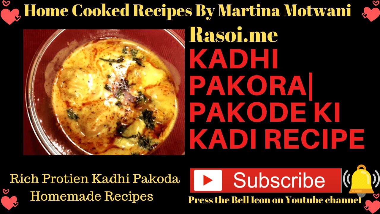 kadhi pakoda recipe Rasoi.me