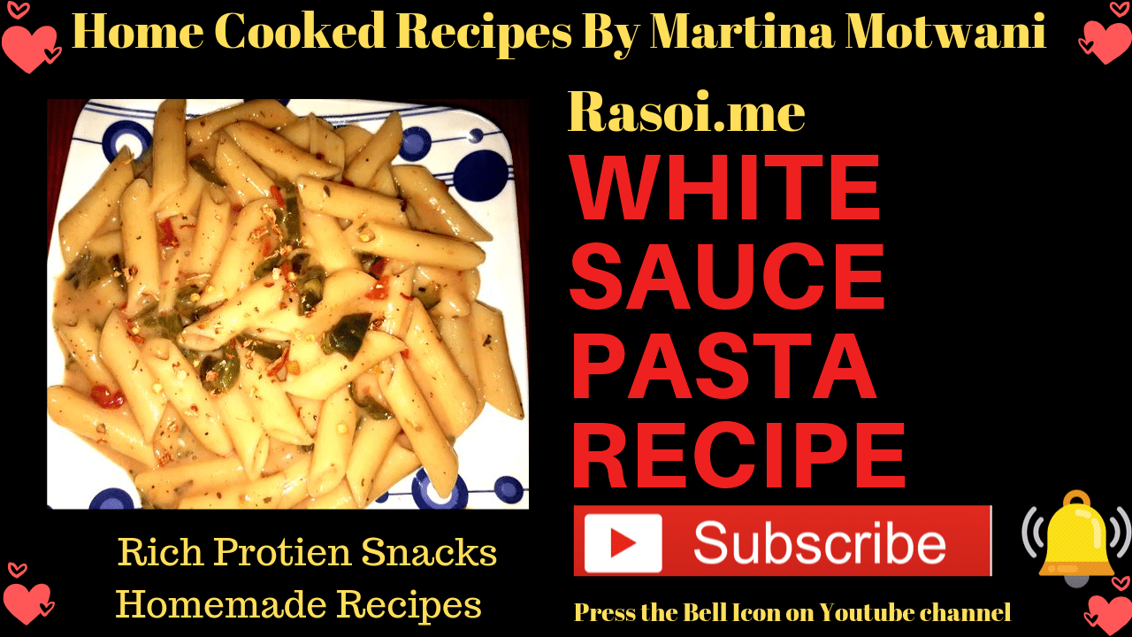 White sauce pasta recipe in hindi
