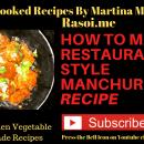 Veg Manchurian recipe Rasoi.me