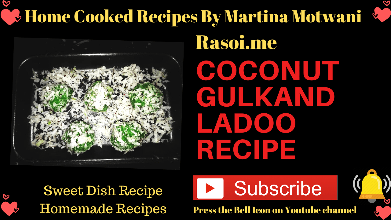 coconut gulkand ladoo recipe