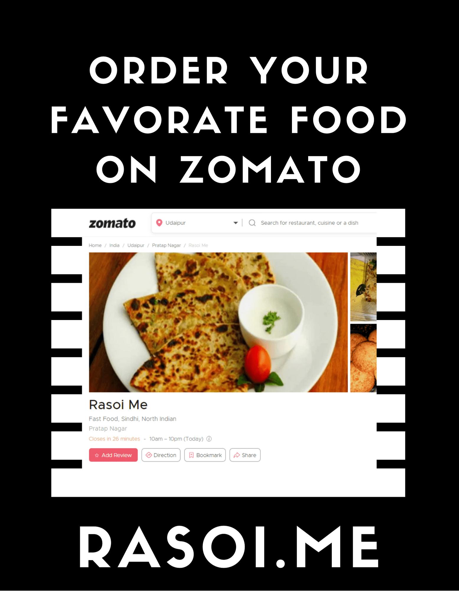 Rasoi.Me Zomato Food Order